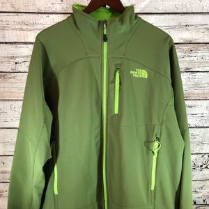 North Face Green Jacket  with Lime Green Lining